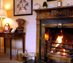 Fire in Drawing room, Ballymote House, Country House B&B, County Down