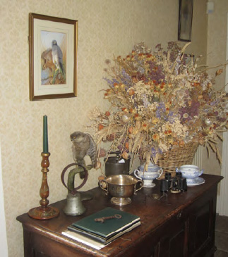 Corner in Ballymote House back hall, Ballymote House, Country House B&B, County Down