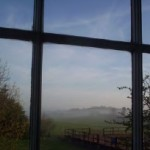View from Curtis Room, main ensuite guest room, Ballymote House, Country House B&B, County Down