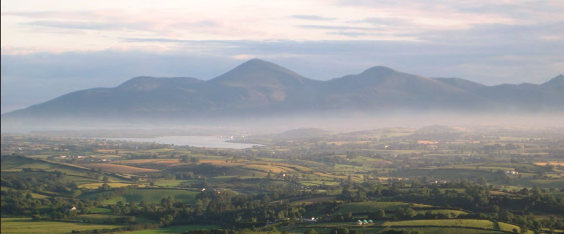 View from Hot air balloon over Ballymote