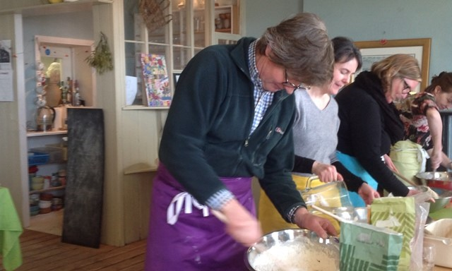 james making sourdough bread for breakfast at Ballymote House